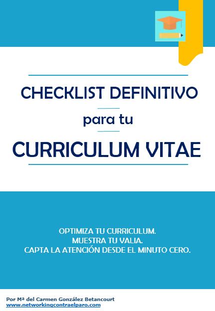 Checklist para Curriculum Vitae
