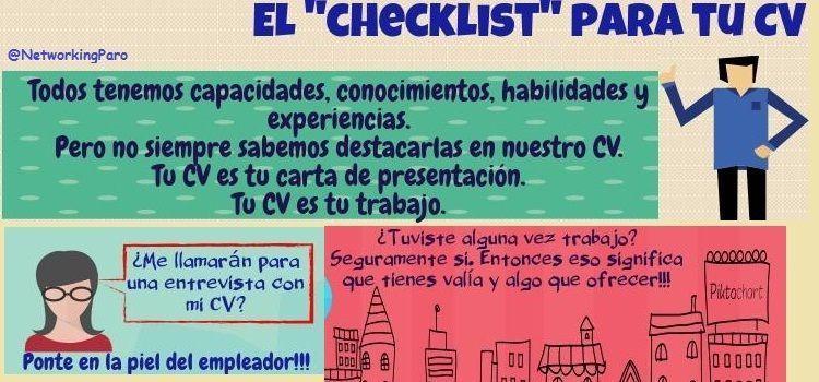 CheckList para Curriculum Vitae [incluye Plantilla PDF]