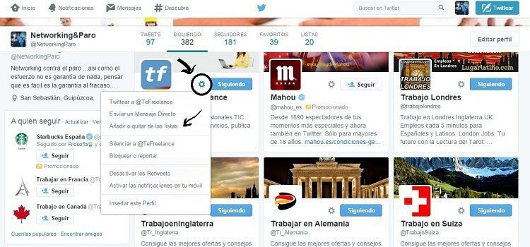 Cómo crear Listas en Twitter paso a paso – Tutorial Descargable
