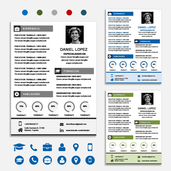 Modelo para Curriculum Vitae en Power Point