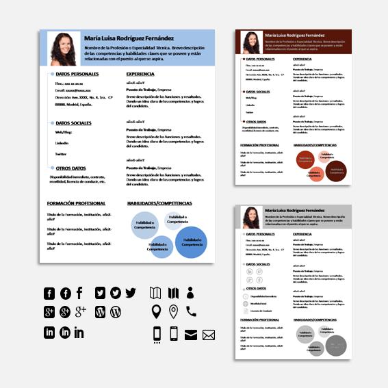 Plantillas Curriculum Vitae Infocircle