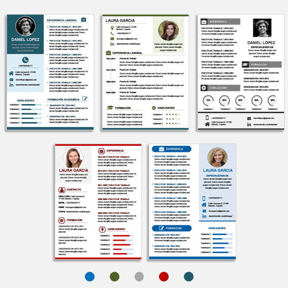 Plantillas para Curriculum Vitae en Power Point