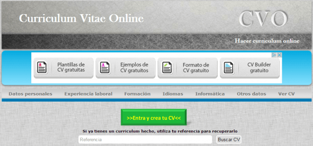 Hacer Curriculum Vitae Online con CVO