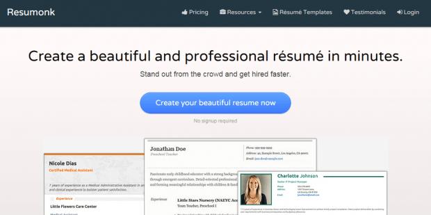Hacer Curriculum Vitae Online con Resumonk