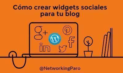 Cómo crear social widget para tu blog - Twitter, Facebook, Pinterest, Google Plus y LinkedIn
