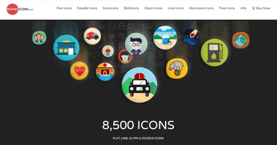 iconos gratis round icons