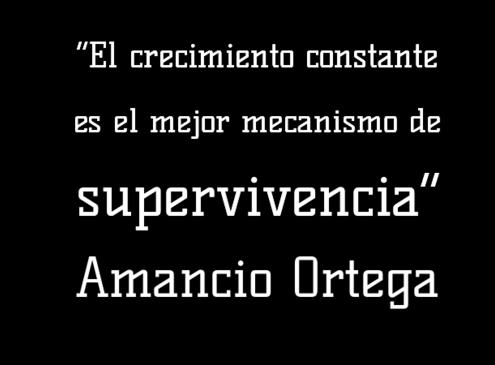 Cita sobre el Crecimiento Constante - Amancio Ortega