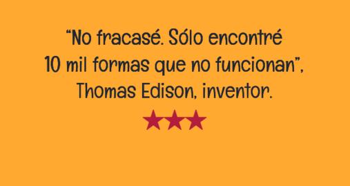 Frase sobre Emprender - Thomas Edison