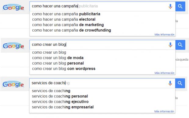 Ideas para escribir un blog con Buscador Google