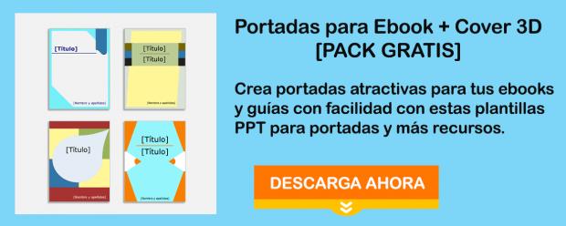Portadas de ebook y plantillas 3D gratis