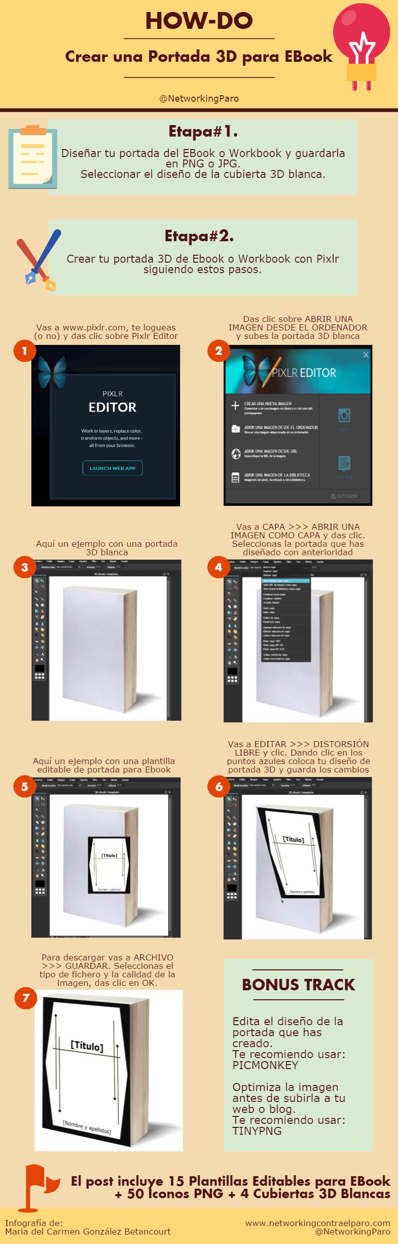 Como crear portada 3D de ebook usando Pixlr