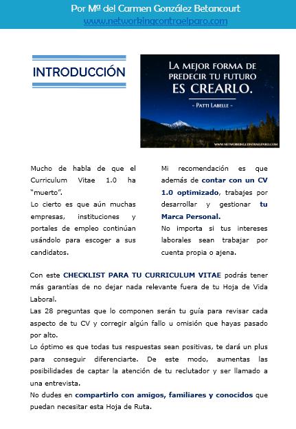 Checklist para hacer un Curriculum Vitae -1