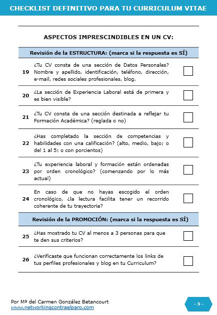 Checklist para hacer un Curriculum Vitae -4