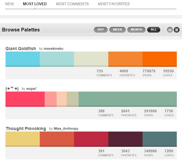 Herramientas diseño para color web Colourlovers