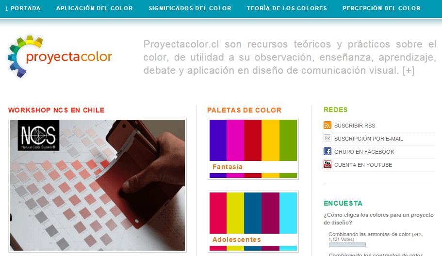 Herramientas diseño para color web Proyectacolor