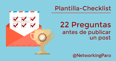 Checklist Antes de Publicar un post en el blog