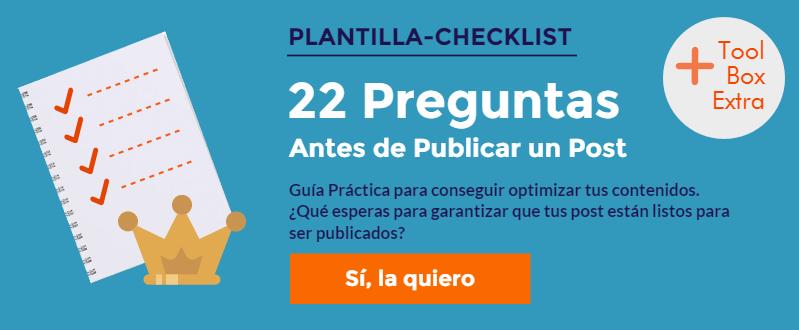 Descargar Checklist Comprobación Publicar un Post