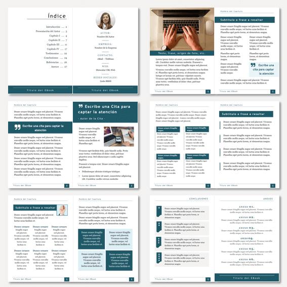 Plantillas para crear ebook, guías y PDF