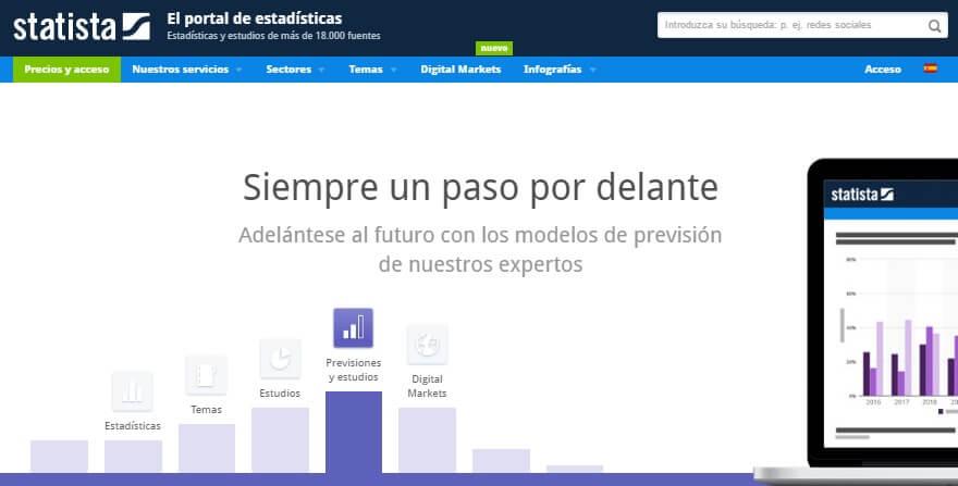 Estadisticas y Tendencias de Marketing Online - Statista