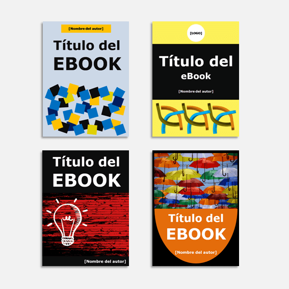 Plantillas para crear ebook (portadas)