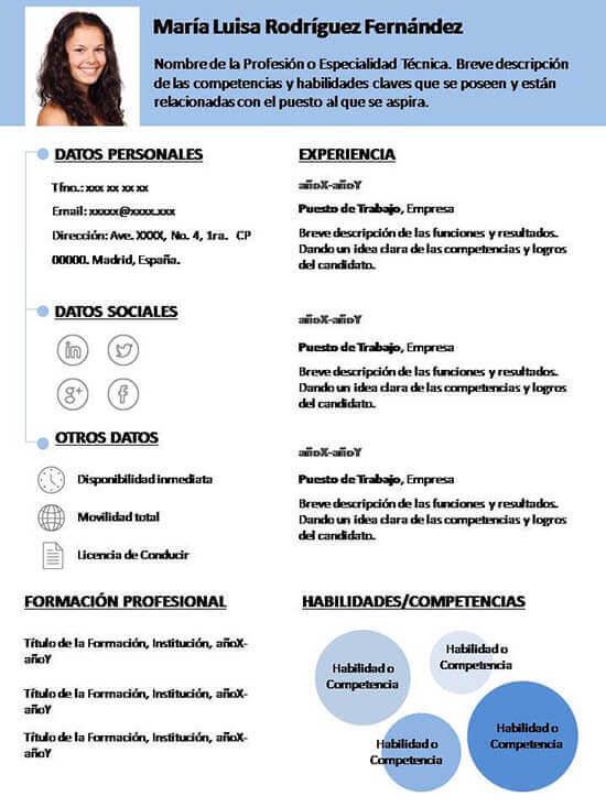 Plantilla Curriculum Vitae - More CV Samples