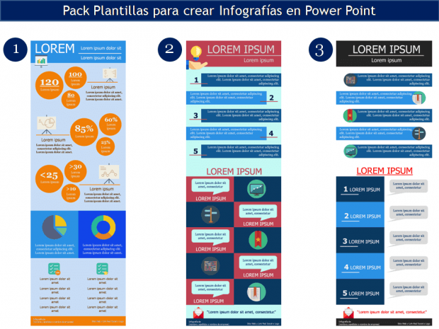 Crear Infografías con Plantillas para Power Point [Video+Plantillas ...