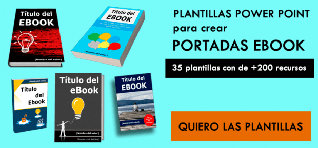 Promoción Plantillas para Power Point para crear Portada de Ebook