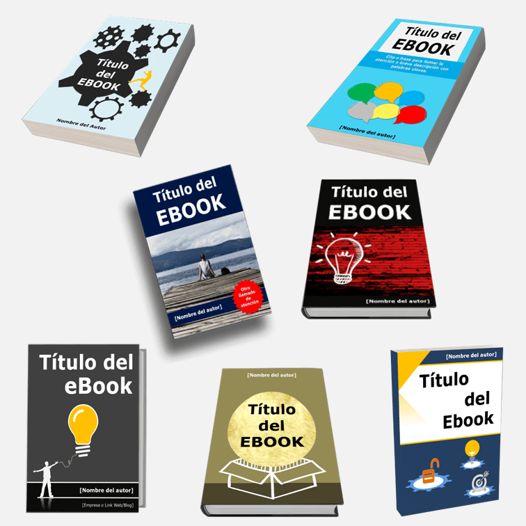 Plantillas en Power Point para crear Portadas de Ebook, Guías y PDF.