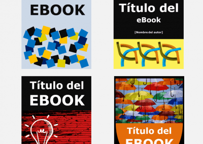 Plantillas de power point para crear portada de ebook premium