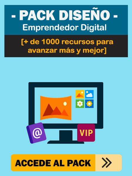 Banner lateral Pack Diseño Emprendedor Digital