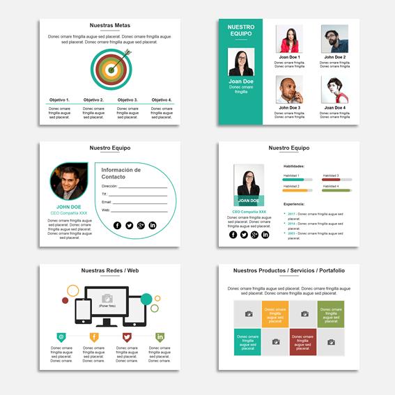 Plantilla Power Point Multiuso para Presentaciones, informes y propuestas. - 150 slide con gama de 4 colores.