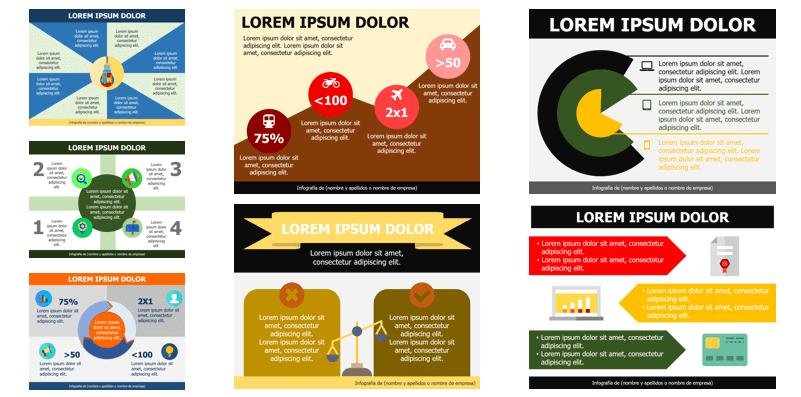 Plantillas para crear infografías