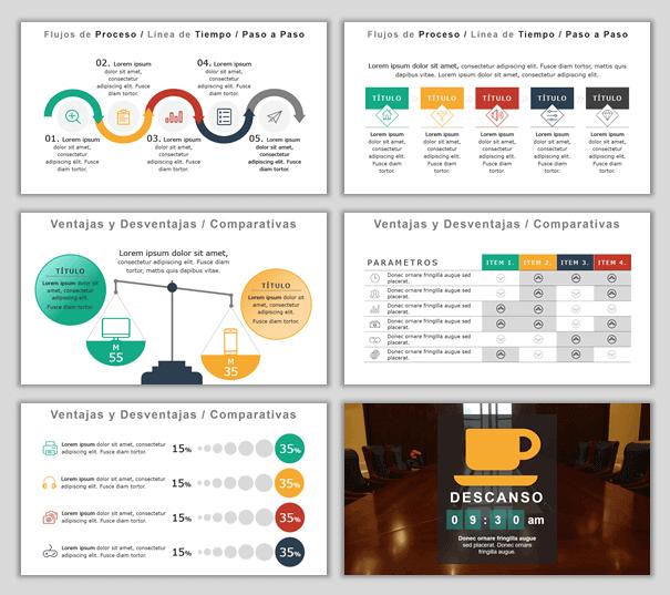 Plantillas Power Point para Presentaciones - Modelo Business Class